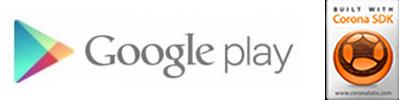 Google Play link and Corona logo