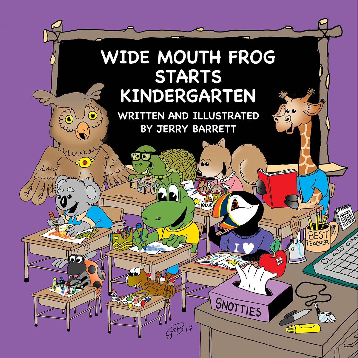 Wide Mouth Frog Starts Kindergarten Cover